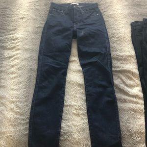 madewell dark wash skinny jeans sz 26
